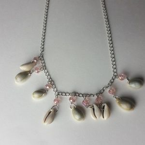 Chloe Accessory Jewelry - Pink Shell Necklace and Earrings